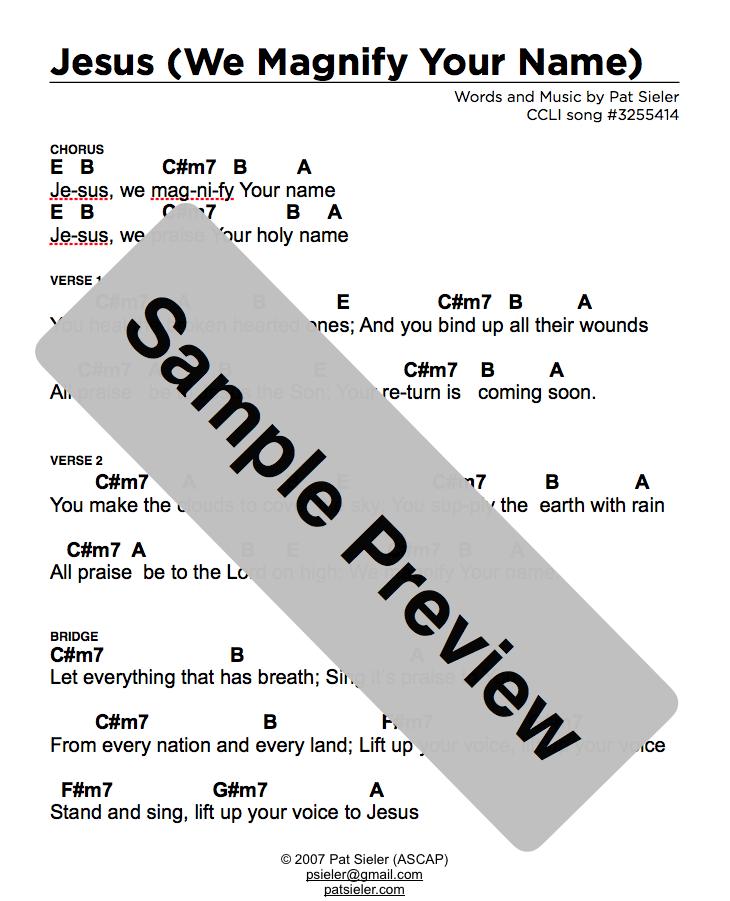 in the name of jesus chords pdf