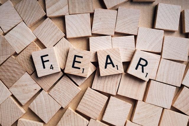 block letters of FEAR